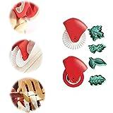 LIDUO Cubierta De Corteza De Pastel Ajustable con DecoracióN De Rueda De PasteleríA, Cubierta Protectora De Silicona para Pastel, Adecuada para Utensilios De Cocina para Hornear Pasteles Y Pizza (B)