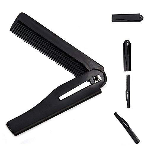 Hari's Kamm Kunststoff Falten Haar Bart Vorlage Shaper Guide Kamm Werkzeug Trimmer für Männer Herren Ziegenbart, Bart Schwarz