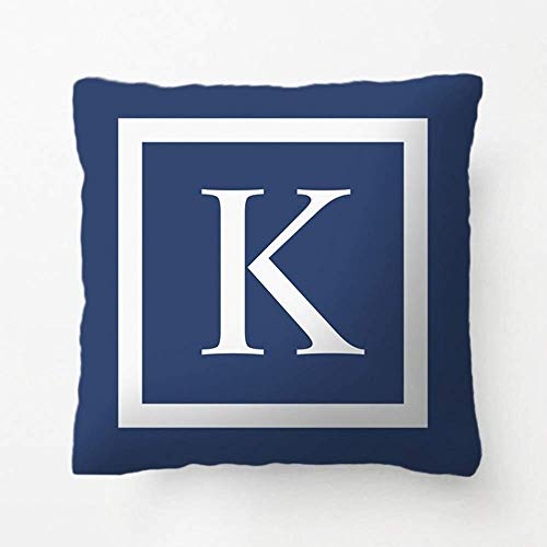 jingqi Teal Blue Or Any Color Monogrammed Modern Pillow Decorative Cushion Cover Pillow Case Customize Gift for Living Room Pillowcase