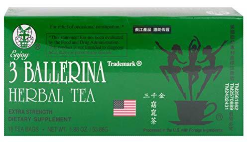 3 Ballerina Tea Dieters' Drink Extra Strength 648 Tea Bags (In 36 Boxes) ( Value Bulk Multi-pack)