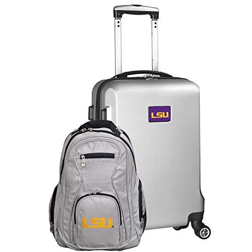 Fantastic Prices! NCAA LSU Tigers Deluxe 2-Piece Backpack & Carry-On Set, Silver