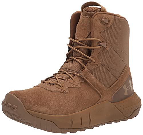 Under Armour womens Micro G Valsetz Lthr Military and Tactical Boot, Coyote (200 Coyote, 5.5 US