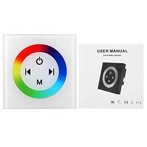 Controlador Led de Panel T¨¢ctil, Regulador LED RGB de Color Montado en la Pared, Regulador Led M¨¢s Oscuro para el Color Que Cambia la Tira de LED, Luces de Panel, etc. (2#)