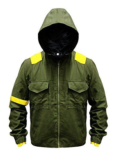 One Green Pilots – Chaqueta con capucha para hombre (algodón), diseño de camuflaje militar, Verde,…