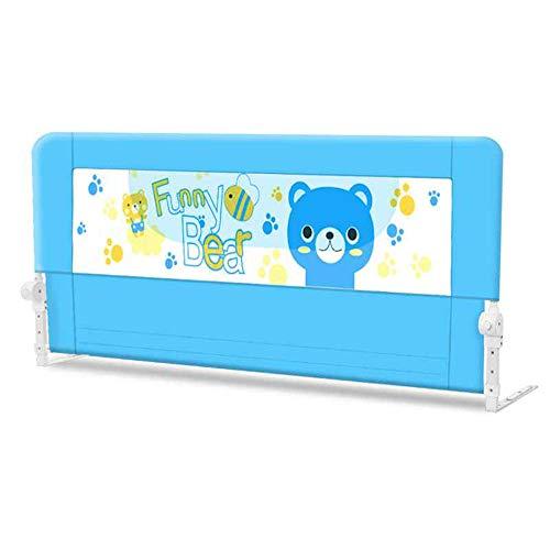 Barrières de lit LHA Baby Child Garde-Corps incassable pour Garde-Corps à 180 °, Garde-Corps -150cm, 180cm, 200cm (Couleur : Bleu, Taille : L-200cm)