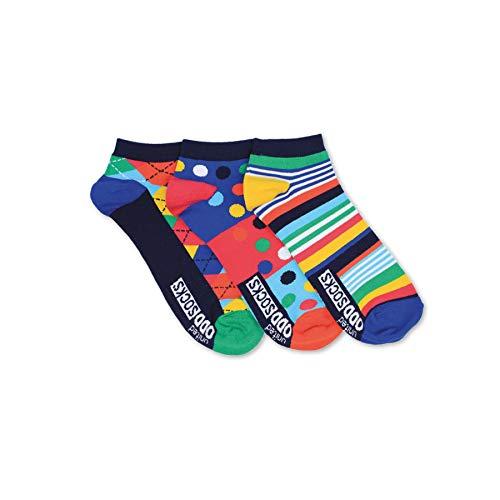 Streifen und Muster Füßlinge Oddsocks Socken in 39-46 im 3er Set - Strumpf