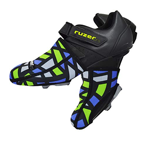RUZER Neoprene Cycling biking overshoes toe cover warmers windproof feet foot protection mountain road biking (UK5/EU37-UK8-EU42)