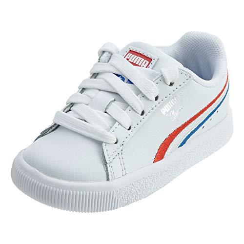 PUMA - Infant Clyde 4Th of July Shoes, Size: 8 M US Toddler, Color: High Risk Red/Puma Royal/Puma White