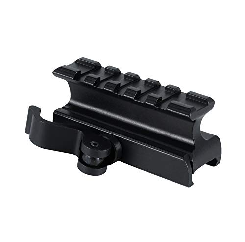 Monstrum Picatinny Riser Mount for Red Dots and Optics | 2.5 inch with Quick Release | High Profile