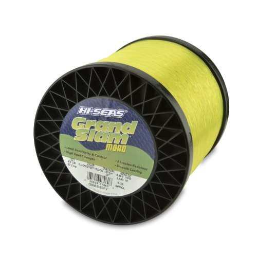 Hi-Seas Grand Slam Monofilament, 30 Pound Test, Fluorescent Yellow, 1-Pound Spool