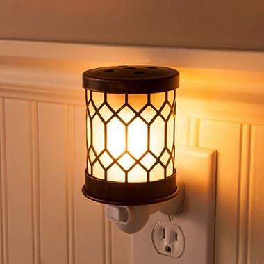Wax Melt Warmer Electric Tart Warmer Plug In Pluggable Home Fragrance Diffuser (Bronze Lantern)