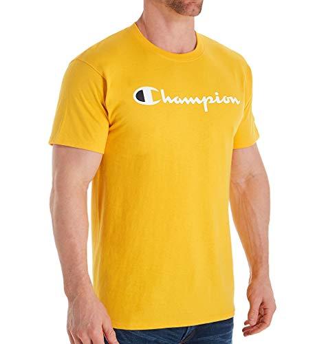 Champion Men's Classic Jersey Script T-Shirt, Team Gold2, Large
