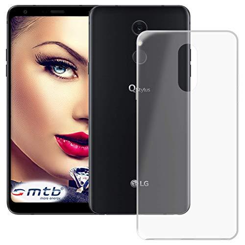 mtb more energy® Schutz-Hülle Clear und Slim für LG Q Stylus+ (LM-Q710, 6.2'') - transparent - flexibel - TPU Silikon Hülle Cover Tasche