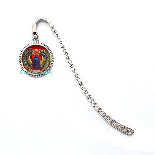 Segnalibro a forma di scarabeo egiziano, gioiello egiziano da donna, Q0261
