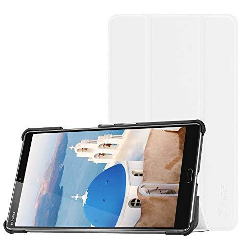 Fintie Hülle Hülle für Huawei Mediapad M5 8 Tablet - Ultra Dünn Superleicht SlimShell Ständer Hülle Cover Schutzhülle Auto Sleep/Wake Funktion für Huawei MediaPad M5 21,34 cm (8,4 Zoll),Weiß