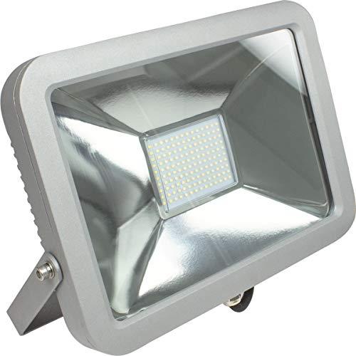 as - Schwabe Slimline chip werklamp - 1200 W professionele bouwlamp spot geschikt als werkplaatsspot - mobiele LED-lamp voor binnen- en buitenverlichting - IP65 - zilver I 46465, 120 W, 230 V