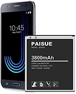 Galaxy J3 Battery, 3800mAh Upgraded Battery Replacement for Samsung Galaxy J3 J320A J320V J320F J320P J327A J327P EB-BG530...
