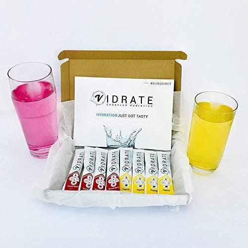 ViDrate Sugar Free Hydration Powder with Vitamins & Electrolytes, All Natural (8 Sachets)