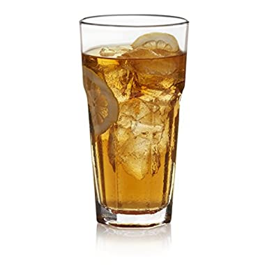 Libbey Gibraltar Iced Tea Glass Set, 12-22 ounce Drinking Glasses, 7 inch height, Lead-Free