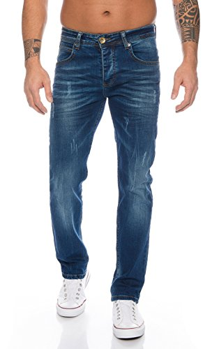 Rock Creek Herren Jeans Deep Blue RC-2110 [W42 L32]