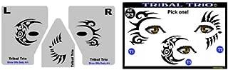 Face Painting Stencil - StencilEyes Tribal Trio - Eye Tats