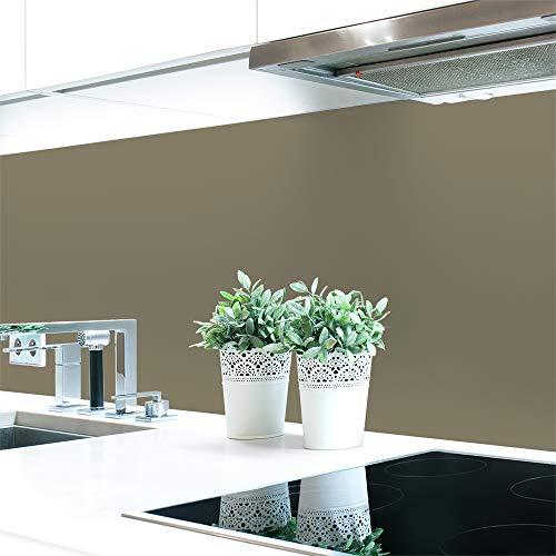 Küchenrückwand Grautöne Unifarben Premium Hart-PVC 0,4 mm selbstklebend - Direkt auf die Fliesen, Größe:Materialprobe A4, Ral-Farben:Beigegrau ~ RAL 7006