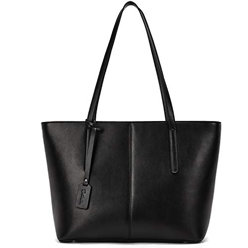 BOSTANTEN Women Handbag Genuine Leather Tote Shoulder Purses Black