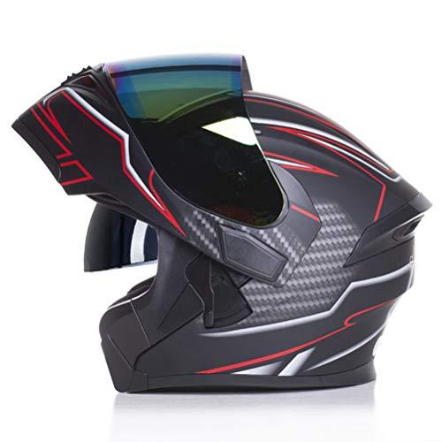 Casco de moto modular para mujer con doble casco Sunny Visor Moto Racing Casco Cascos integrales Bicicleta de montaña Aprobado por el DOT