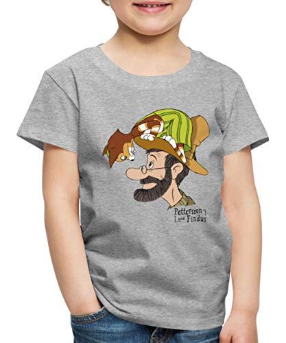 Pettersson Und Findus Unterhalten Sich Kinder Premium T-Shirt, 98-104, Grau meliert