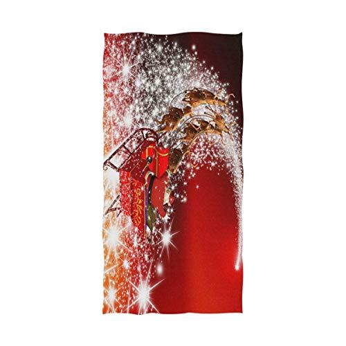 chillChur-DD Bath Towel Frohe Weihnachten Meteor Microfaser Pool Strandtuch Schnelltrocknendes Badetuch Reisetuch Duschtuch - Wasseraufnahme Umweltschutz