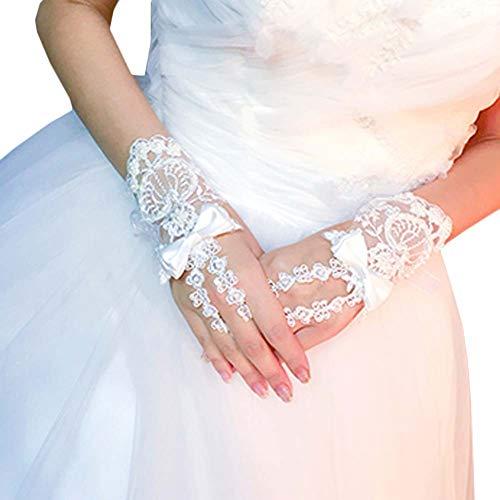 Gants de mariée mariage robes de soirée dentelle gants courts B04