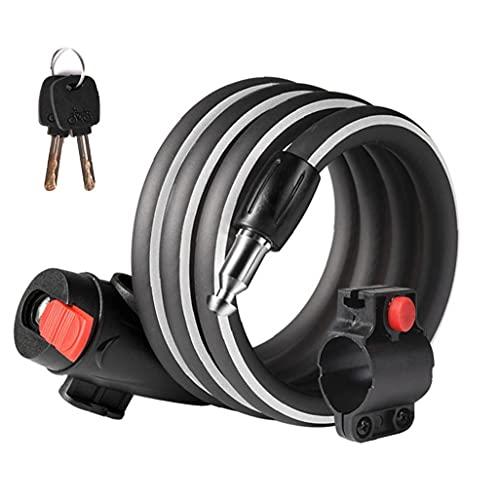 Uayasily Cadena De Bicicleta De Bicicletas De Bloqueo Antirrobo Anillo De Cerradura Bicicleta De Bloqueo De Bicicletas De Bloqueo Anti-Robo De Cable Cable De Seguridad En Bicicleta