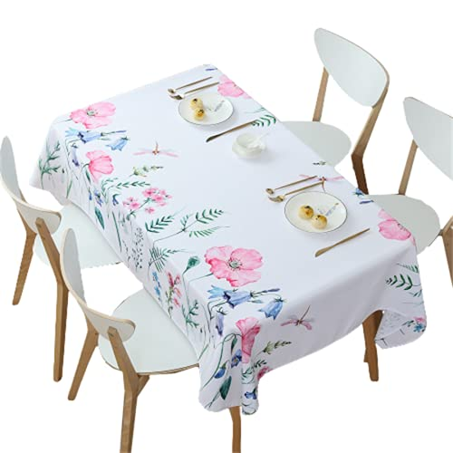 Planta Flor Patrón Impermeable Rectangular Mantel Mesa De Café Mantel Comedor Mantel Cuadrado Adecuado para Cocina Sala De Estar Decoración Mueble De TV Jardín Al Aire Libre 90x145cm