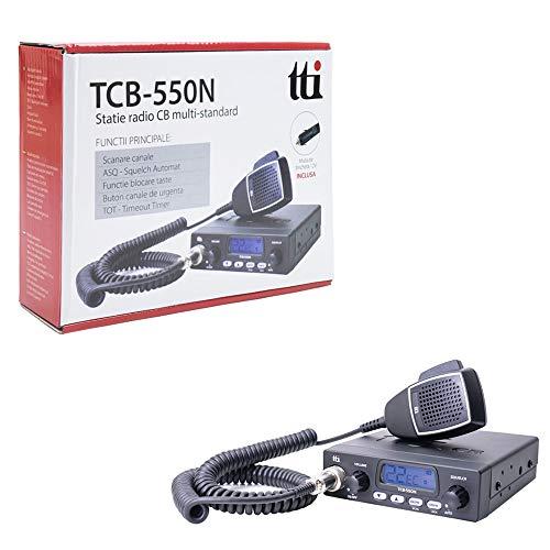 TTI TCB-550 TCB550 MULTI-NORM MULTI-STANDARD AM FM CB RADIO MIDS CEPT 27/81