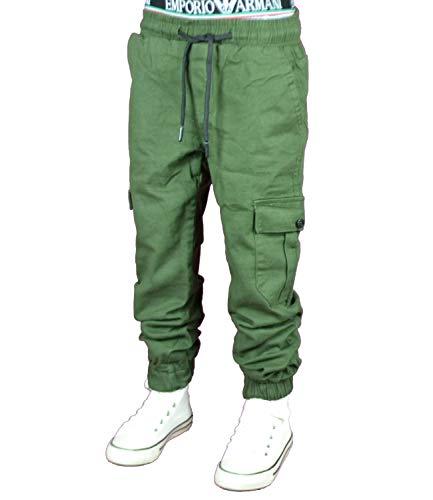 NM KIDS 4444 Cargo-Jogg Hose Junge Kinder (grün, 158)