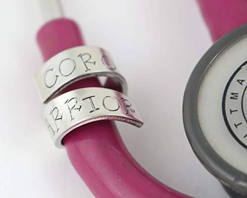 Coronavirus Covid-19 Stethoscope ID Tag - Ring - Littmann - Charm - Personalized Name Tag - Nurse Gift