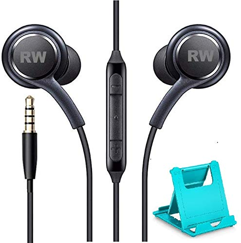 REDWIND® Nylon Wired in-Ear Super Extra Sound Bass Headphones with Mic, Noise Cancellation Sound Control 3.5mm Jack Earphone with Phone Stand for All Latest Smartphone