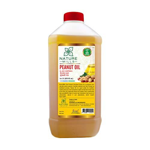 NatureMills Natural Peanut Oil - 2 Liter - 67.6 Fl.Oz - Cold pressed, Unrefined