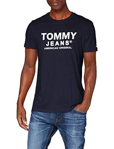 Tommy Herren Tjm Essential Front Logo Tee Hemd, Blau (Twilight Navy), L