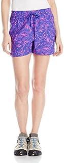 Columbia Women's Cool Coast Shorts, Light Grape Print, Large/4