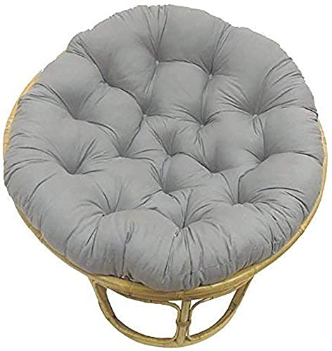 Meishikanka 48 Inch Papasan Seat Cushioning Overstuffed Round Egg Seat Cushion Oversize Chair Pads Navy Blue Patio Chair Cushion For Outdoor Indoor48X48X4inch (Color : Light gray)