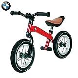 Klappbarer Kick-Scooter, Laufrad für 3-jähriges Mädchen - BMW Original Kinder-Laufrad Kinderfahrrad & Standard-Fahrraddesign - Fußstütze abnehmbar mit verstellbarem Lenker und Sitz (rot)