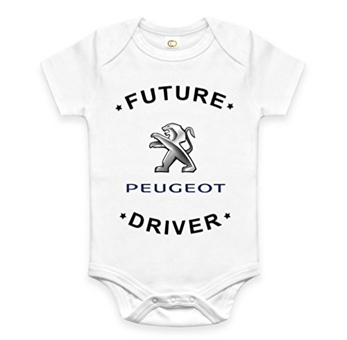Rare New Future Peugeot Driver Funny Baby Clothes Cute Unisex Bodysuit Onesie Short Sleeve Romper One Piece Prime Outfits with Sayings Body Bébé (12-18 Mois)