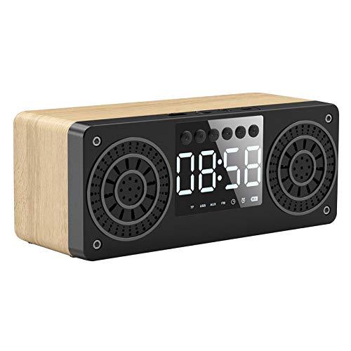 H HILABEE Reproductor de Audio Portátil de Madera con Altavoz de Barra...