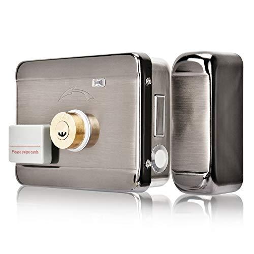 Cerradura Inteligente Invisible, Cerradura eléctrico con Control de Acceso, Tarjeta RFID Control de Acceso de Puerta Para Apartamentos/Hogares/Hotel DC 12 V