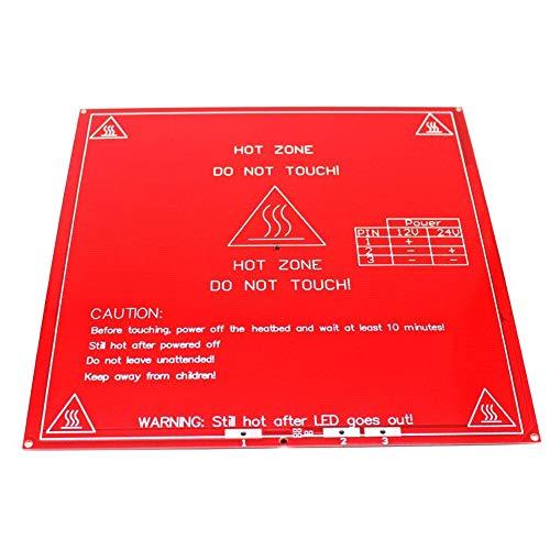 Rabusion Hot for RepRap 3D Printer PCB Heatbed MK2B Heat Bed Hot Plate for Prusa Mendel 12V 24V