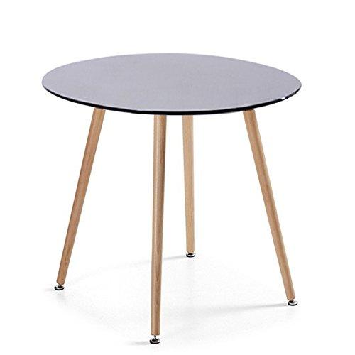 Designetsamaison Table à Manger Ronde scandinave Noire 100cm - Alta