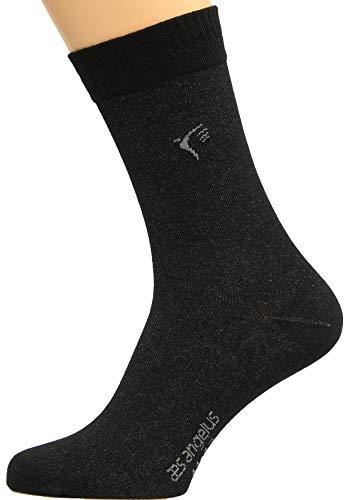 Max Lindner Socken Silbersocken schwarz Größe 41, 42, 43