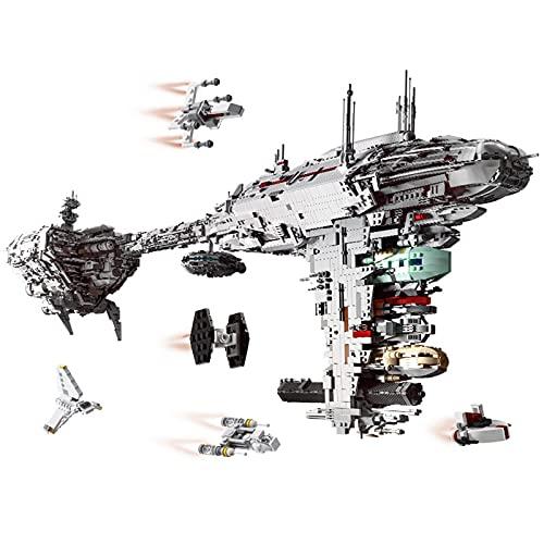 WANZPITS Star Wars Compatible Moc 5083 UCS Nebulon-B Medical Fragation Modelo Bloques De Construcción Bloques De Construcción Nave Espacial Ladrillos Modelo Juguetes Regalo para Adultos,6388 pcs