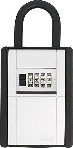 ABUS KeyGarage™ 797 - Schlüsselbox mit Bügel zur Befestigung - für Schlüssel oder kleine Wertgegenstände - Schwarz-Silber